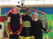 Our three fantastic dancers, who played three roles in the play - Tornadoes, Jitterbugs and Flying Monkeys!