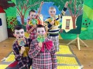 The members of the Lollipop Guild, who twitched their way to Dorothy in Munchkinland!