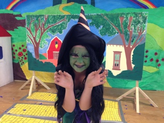 The Wicked Witch of the West, who terrifed younger members of the audience, and impressed the older ones!