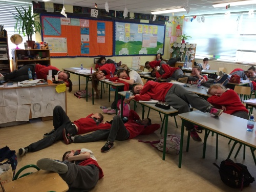 The after effects of the sponsored jog in 6th class !! Zzzzzzzz