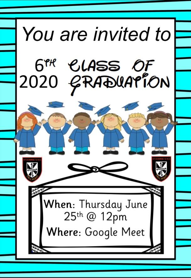 6th Class Graduation Invitation